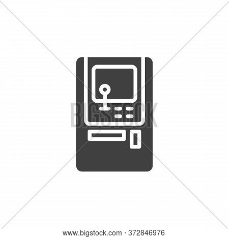 Arcade Game Machine Vector Icon. Filled Flat Sign For Mobile Concept And Web Design. Arcade Video Ga