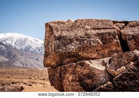 Chalfant Valley With Its Famous Petroglyphs In The Rocks - Travel Photography