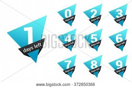 Number Days Left Countdown. Days To Go For Promotion, Sale, Landing Page, Template, Ui, Web, Mobile