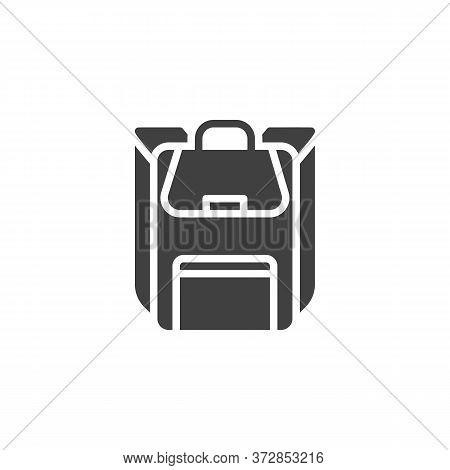 Haversack, Rucksack Vector Icon. Filled Flat Sign For Mobile Concept And Web Design. Backpack, Knaps