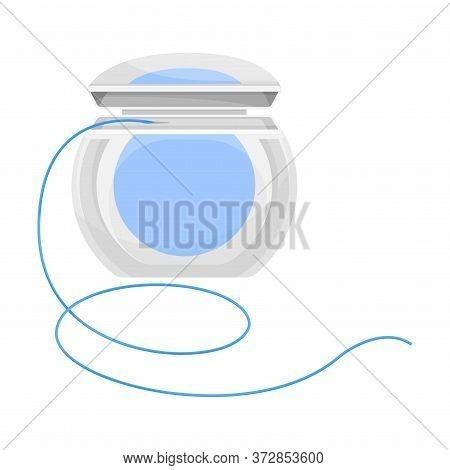 Dental Floss Isolated On White Background Vector Illustration