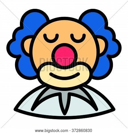 Happy Clown Icon. Outline Happy Clown Vector Icon For Web Design Isolated On White Background