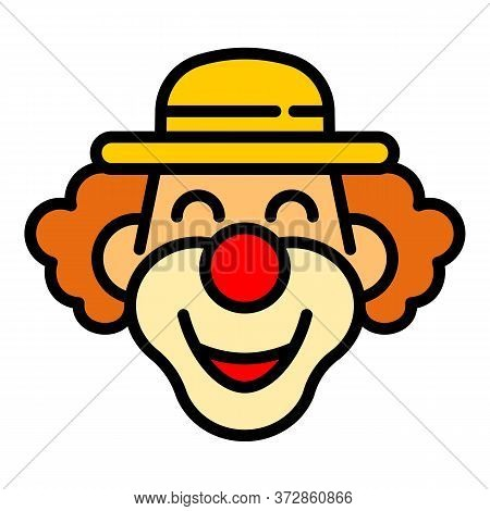 Magician Clown Icon. Outline Magician Clown Vector Icon For Web Design Isolated On White Background