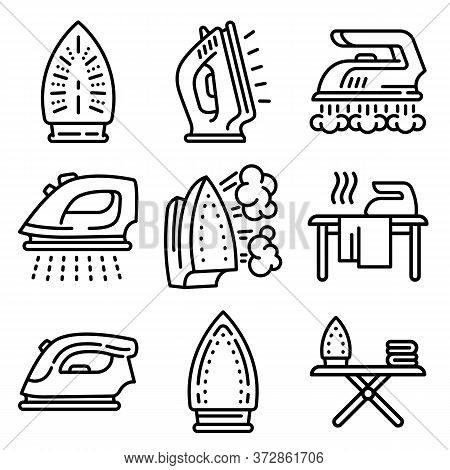 Smoothing-iron Icons Set. Isometric Set Of Smoothing-iron Vector Icons For Web Design Isolated On Wh