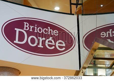 Bordeaux , Aquitaine / France - 01 22 2020 : Brioche Doree Logo Baker Sign Store Bakery Shop Brioche