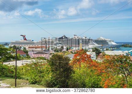 Nassau, Bahamas - May 3, 2019: Fort Fincastle On Bennet's Hill, Where It Overlooks Historical Nassau