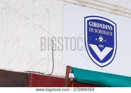 Bordeaux , Aquitaine / France - 01 22 2020 : Girondins De Bordeaux Shop Store Sign For Fc Logo Footb
