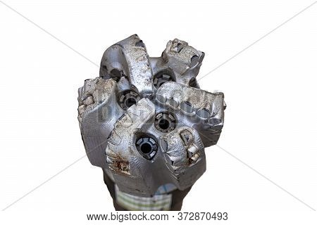 Oil Drilling Equipment For Workover. Used Oil Drilling Bit Head. Tricone Oil Drill Bits Isolated On