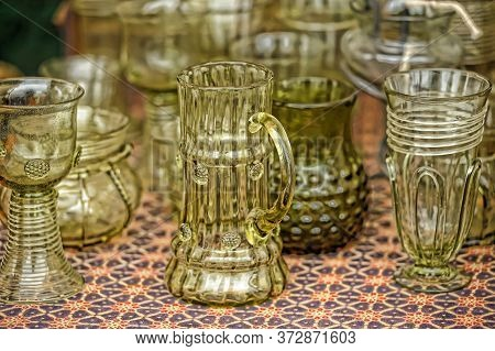 Unusual Vases And Wine Glasses Made Of Glass On Sale