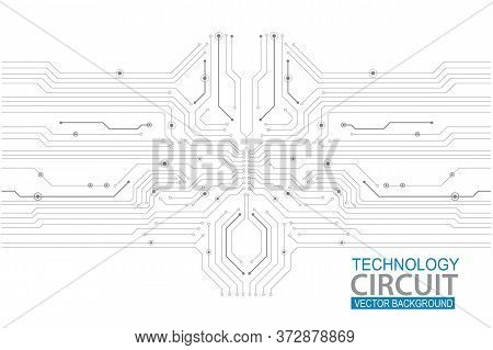 Abstract Futuristic Circuit Board Illustration, High Computer Technology Background. Hi-tech Digital