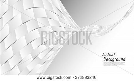 White Abstract Background. Vector Silver Background For Cover, Book, Banner, Web Page, Poster, Card,