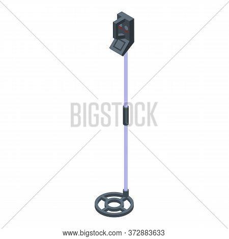 Metal Detector Treasure Icon. Isometric Of Metal Detector Treasure Vector Icon For Web Design Isolat