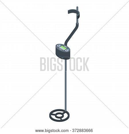 Metal Detector Equipment Icon. Isometric Of Metal Detector Equipment Vector Icon For Web Design Isol