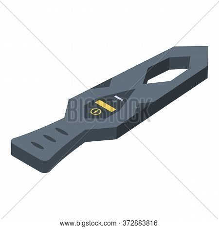 Metal Detector Tool Icon. Isometric Of Metal Detector Tool Vector Icon For Web Design Isolated On Wh
