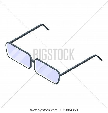 Tax Inspector Eyeglasses Icon. Isometric Of Tax Inspector Eyeglasses Vector Icon For Web Design Isol