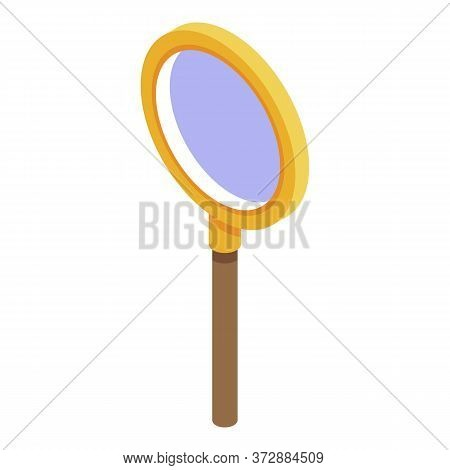 Inspector Magnifier Icon. Isometric Of Inspector Magnifier Vector Icon For Web Design Isolated On Wh
