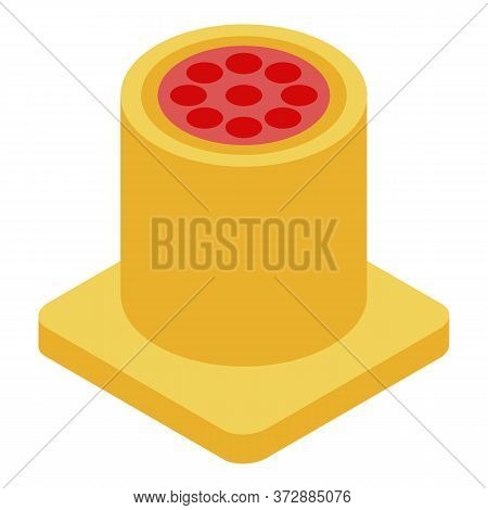 Radio Mic Piece Icon. Isometric Of Radio Mic Piece Vector Icon For Web Design Isolated On White Back