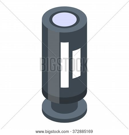 Electric Transistor Icon. Isometric Of Electric Transistor Vector Icon For Web Design Isolated On Wh