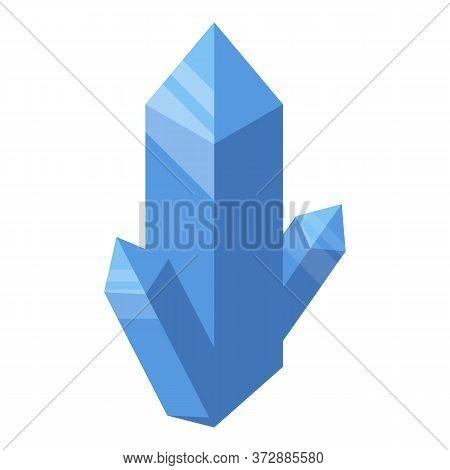 Crystal Nanotechnology Icon. Isometric Of Crystal Nanotechnology Vector Icon For Web Design Isolated