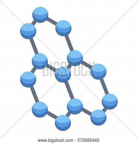 Nanotechnology Molecule Icon. Isometric Of Nanotechnology Molecule Vector Icon For Web Design Isolat
