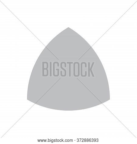 Grey Reuleaux Triangle On White Background. Triangle With Constant Width. Vector Illustration. Reule