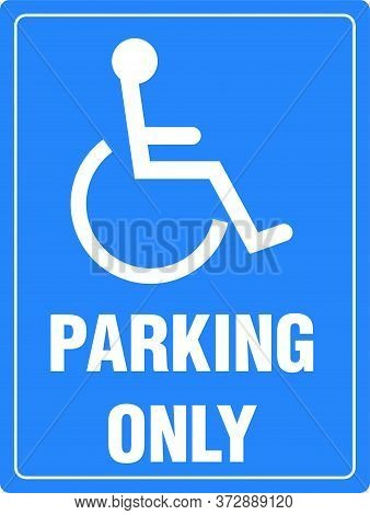 Disabled parking permit only sign Vector Illustration Icon