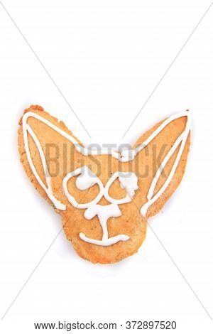 Chihuahua Dog Head Sweet Gingerbread For Christmas