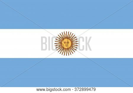 National Argentina Flag, Official Colors And Proportion Correctly. National Argentina Flag.