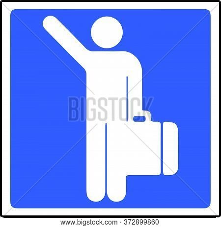 Traveler Icon Solo Traveling Sign Vector Illustration