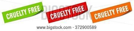 Cruelty Free Sticker. Cruelty Free Square Isolated Sign. Cruelty Free Label