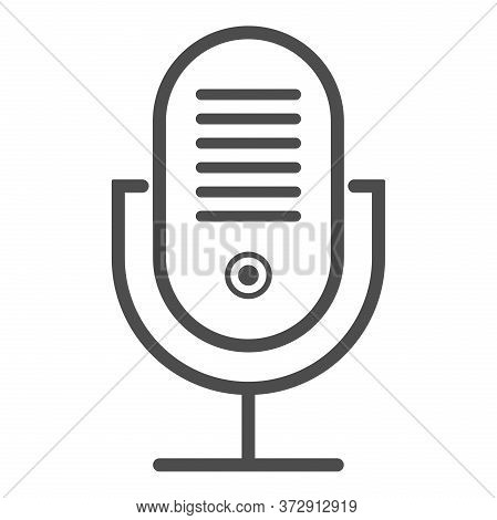 Simple Voice Recording Microphone Icon Or Symbol Vector Illustration
