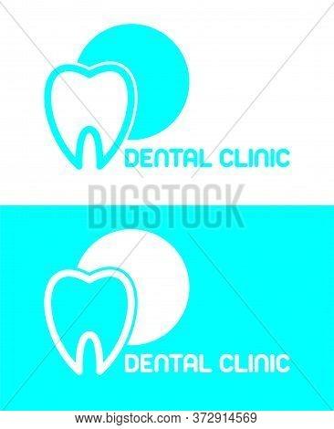 Health Dent Logo Design Vector Template Linear Style. Dental Clinic Logotype Concept Icon.