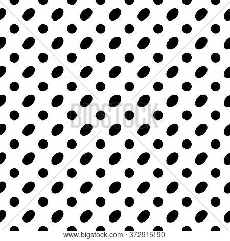 Seamless Pattern. Circles, Ovals Ornament. Dots, Figures Motif. Polka Dot Wallpaper. Geometric Backd
