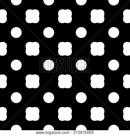 Seamless Pattern. Circles, Forms Ornament. Dots, Shaped Motif. Polka Dot Wallpaper. Geometric Backdr