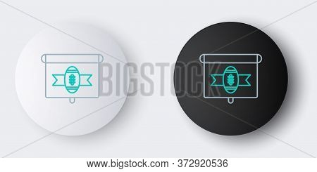 Line American Football On Tv Program Icon Isolated On Grey Background. Colorful Outline Concept. Vec