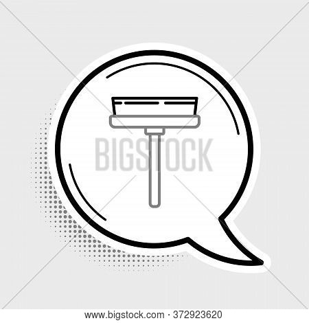 Line Cleaning Service With Of Rubber Cleaner For Windows Icon Isolated On Grey Background. Squeegee,