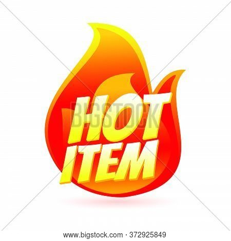 Hot Item Icon. Hot Sale. Hot Product. Vibranst Style Vector Illustration