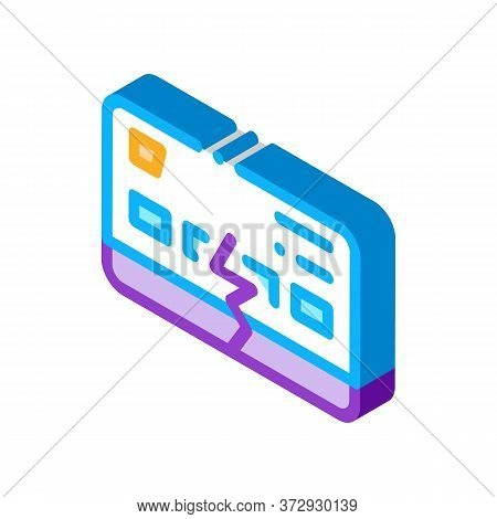 Firm Breakdown Icon Vector. Isometric Firm Breakdown Sign. Color Isolated Symbol Illustration