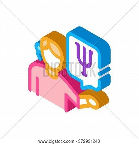 Representative Of Field Of Psychology Icon Vector. Isometric Representative Of Field Of Psychology S