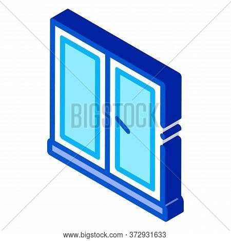 Two-half Window Icon Vector. Isometric Two-half Window Sign. Color Isolated Symbol Illustration