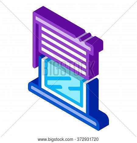 Window With Shutters Icon Vector. Isometric Window With Shutters Sign. Color Isolated Symbol Illustr