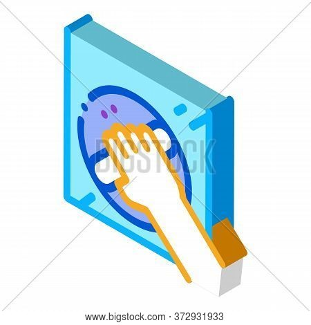 Window Control Handle Icon Vector. Isometric Window Control Handle Sign. Color Isolated Symbol Illus