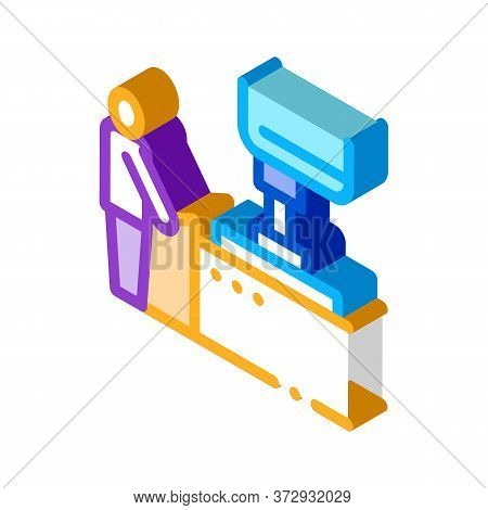Glass Making Icon Vector. Isometric Glass Making Sign. Color Isolated Symbol Illustration