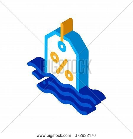 Floating Interest Icon Vector. Isometric Floating Interest Sign. Color Isolated Symbol Illustration