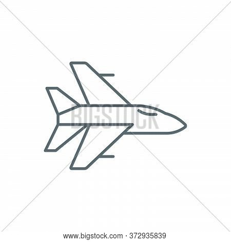 Military Aircraft Vector Icon Symbol Air Force Isolated On White Background