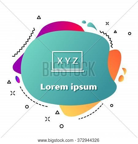White Xyz Coordinate System On Chalkboard Icon Isolated On White Background. Xyz Axis For Graph Stat