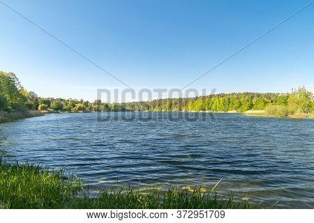 View On Long Lake (dlugie) In Olsztyn, Poland.