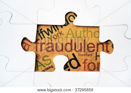 Fraud Puzzle Concept