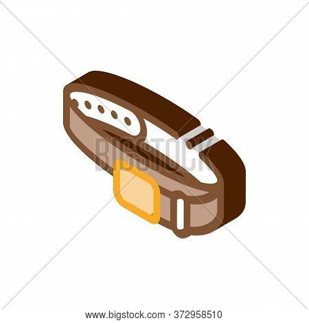 Leather Belt Icon Vector. Isometric Leather Belt Sign. Color Isolated Symbol Illustration