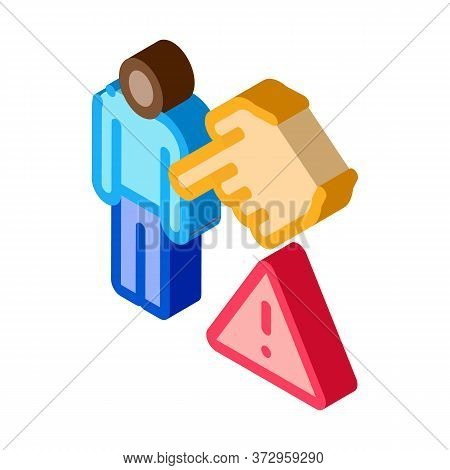Other Race Show Hand Icon Vector. Isometric Other Race Show Hand Sign. Color Isolated Symbol Illustr